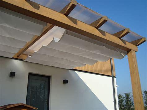 come costruire una tenda da sole pergolati in legno olimpiatenda