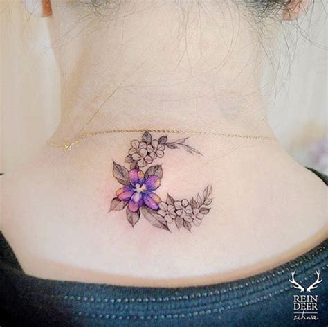 flower neck tattoo designs 40 beautiful back neck tattoos for tattooblend