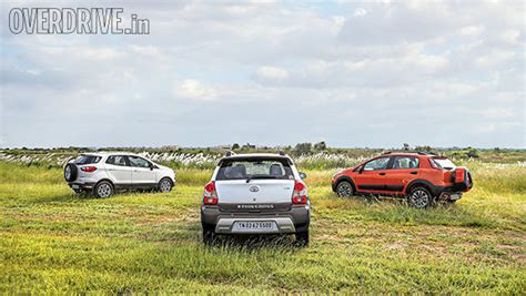 Toyota Etios Ground Clearance Comparison Toyota Etios Cross Vs Ford Ecosport Vs Fiat