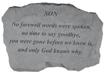 words of comfort for loss of a son loss of son quotes quotesgram