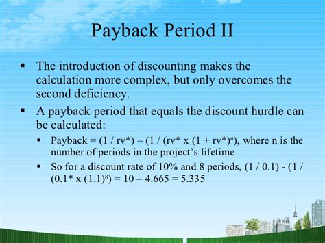 Mba Payback Period by Finance All Ppt Mba Finance