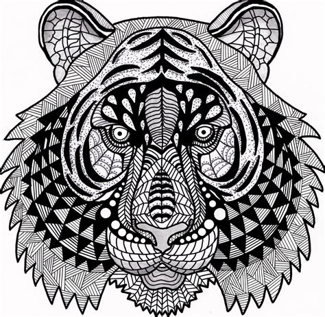 tiger mandala coloring pages tiger zentangle coloring page by inspirationbyvicki on
