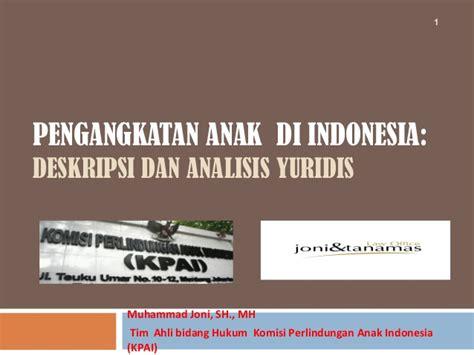Peradilan Dan Pidana Anak Di Indonesia pembekalan hukum pengangkatan anak a slideshare