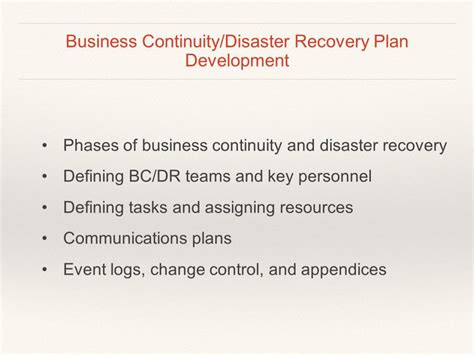 business continuity and disaster recovery plan template 100 business recovery plan template business