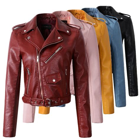 leather motorcycle jacket brands buy 2015 fashion beige leather jacket women bomber