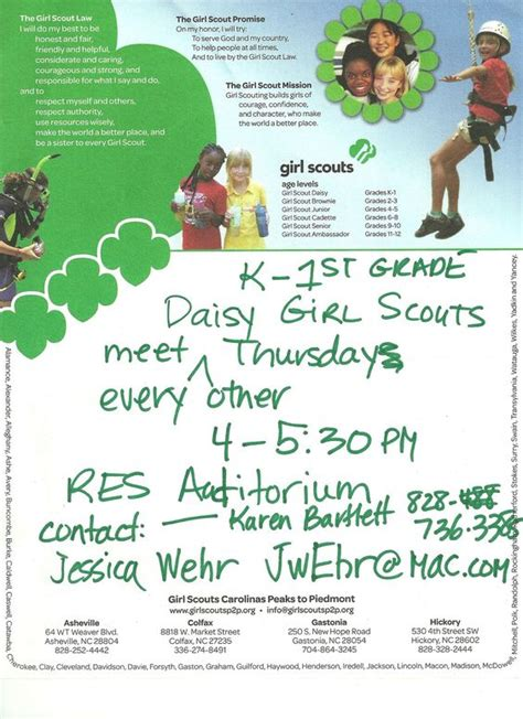 girl scout templates for flyers girl scout flyer 2 jpg 1259 215 1733 flyers pinterest