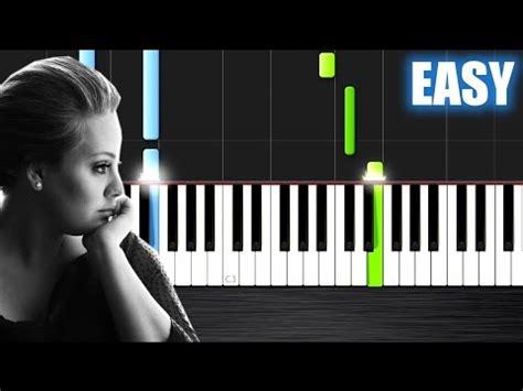 youtube tutorial piano someone like you adele someone like you easy piano tutorial by plutax