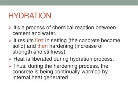 hydration definition cement