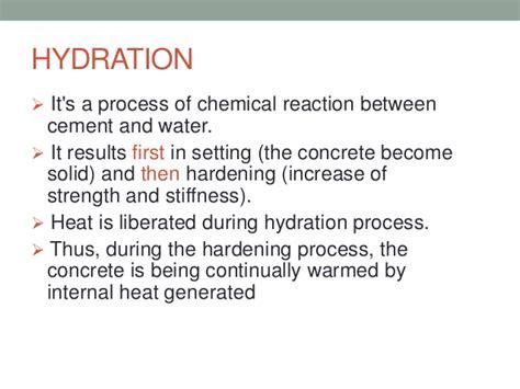 hydration zinc oxide cement