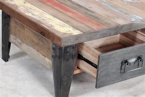 La table basse avec tiroir SAMOUDRA   La Maison Coloniale