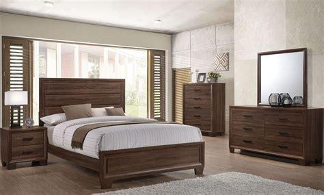 transitional bedroom sets brandon 205321 warm brown transitional bedroom set coaster