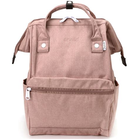anello tas ransel kanvas frosted small baby pink
