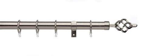 320cm curtain pole universal 25 28mm cage pole set 180 320cm satin steel