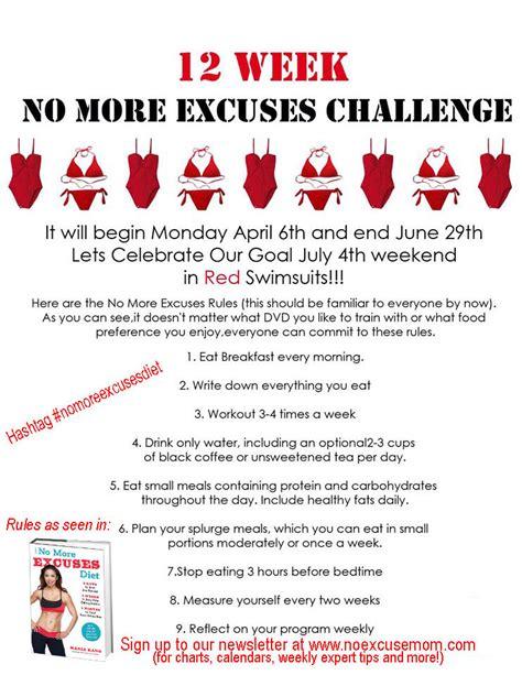 12 week challenge no more excuses 12 week challenge no excuse