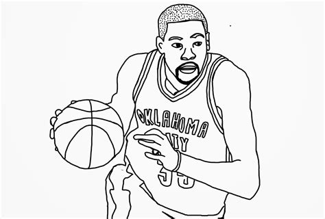 Free Coloring Pages Of Kevin Durant Logo