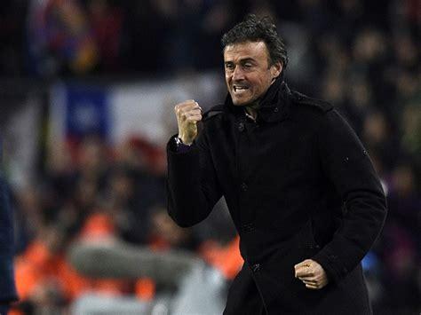 barcelona coach barcelona s coach luis enrique celebrates after a goal
