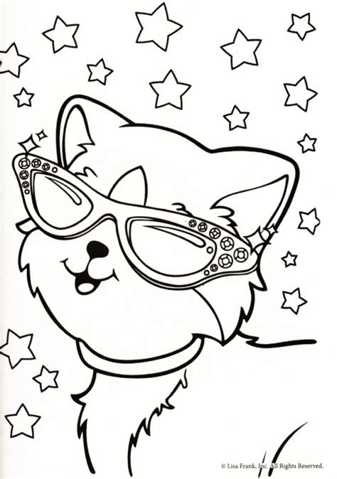 Lisa Frank Cat Coloring Pages | lisa frank printable coloring pages