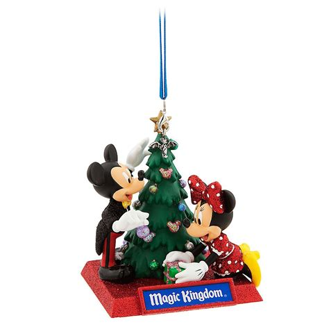 mickey and minnie mouse holiday ornament magic kingdom