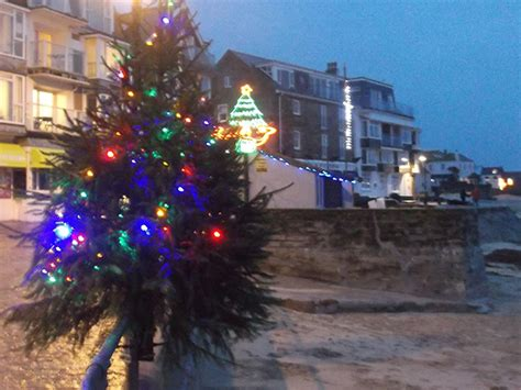st ives cornwall christmas lights 2015