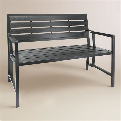 outdoor aluminum bench gray aluminum outdoor folding bench world market