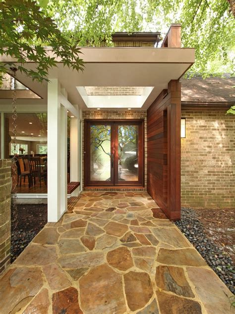 home entrances creative entrance walkway with stone flooring designs