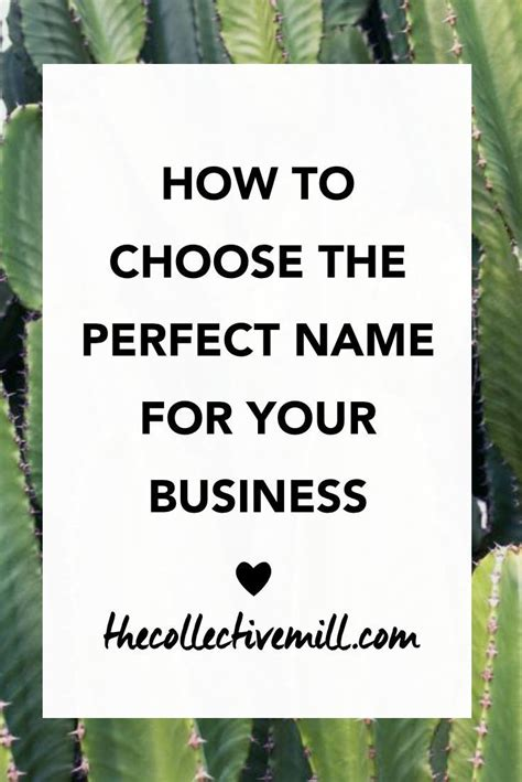 how to pick a name for your business how to choose the perfect name for your business step