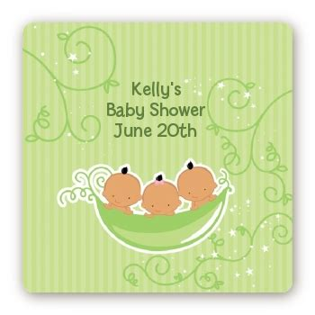 Three Peas In A Pod Baby Shower by Triplets Three Peas In A Pod Hispanic Baby Shower Stickers