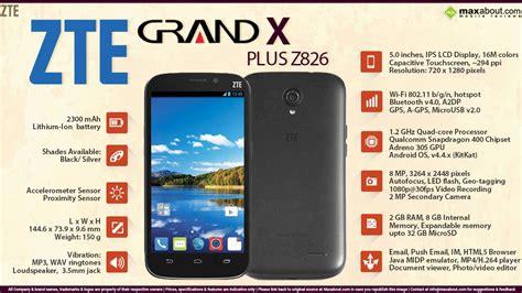 Hp Zte Grand X Plus Z826 zte grand x plus z826 features specifications details