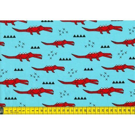 Origami Crocodile - origami crocodile blue tricot fabrics we