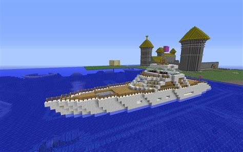 minecraft boat go up luxury yacht minecraft project