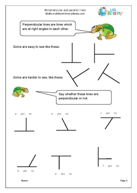 Parallel And Perpendicular Lines Worksheet Pdf by Perpendicular And Parallel Lines Geometry Shape Maths
