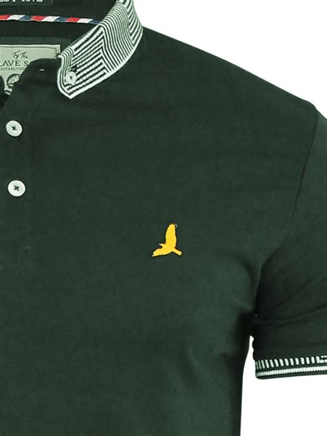 Polo S S T Shirt mens polo t shirt brave soul cotton collared