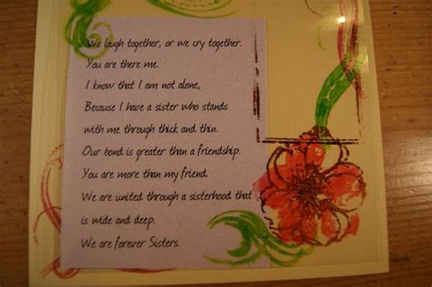 Handmade Sorority Gifts - poems add a handmade card to your sorority gift