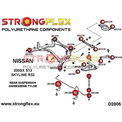 s13 front suspension diagram 281267a rear lower arm bush sport polyurethane
