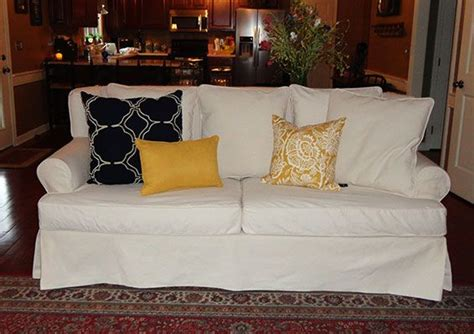 white denim slipcovers for sofa 12 best images about slipcover magic before afters on