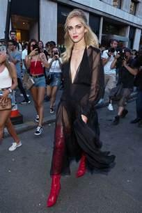Wardrobe In Fashion Show by Chiara Ferragni At Fendi Fashion Show At Haute Couture