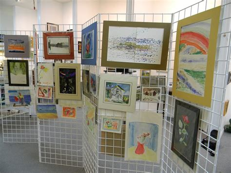 how to display art renew art show on display in downtown sheridan