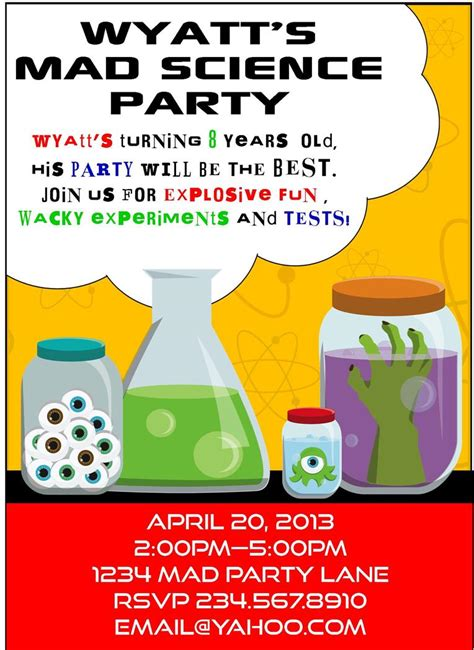 printable science party decorations mad science party games ideas invitations and party