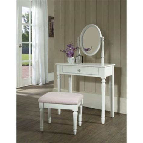 Solid Wood Bedroom Vanity Set by White Vanity Set With Mirror Small Bench Beautiful Bedroom