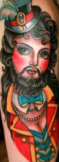 bearded lady tattoo bearded tattoos and on