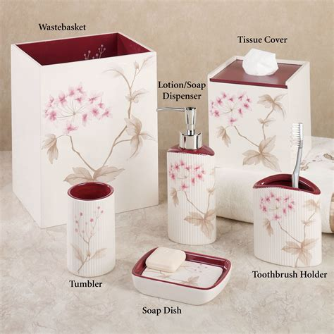 cherry blossom bathroom set christina red cherry blossom bath accessories by croscill