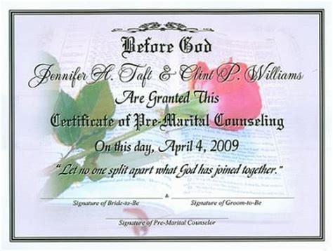 Free Premarital Counseling Certificate Of Completion Template Premarital Certificate Of Completion Template Bing Images Premarital Counseling Sessions