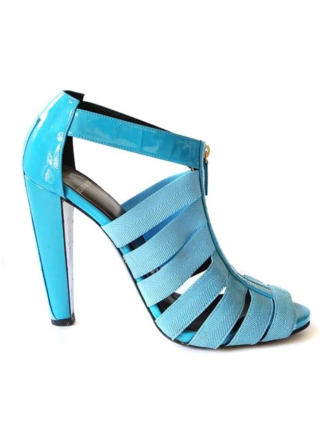 blue high sandals louise hardy bright blue high heel patent