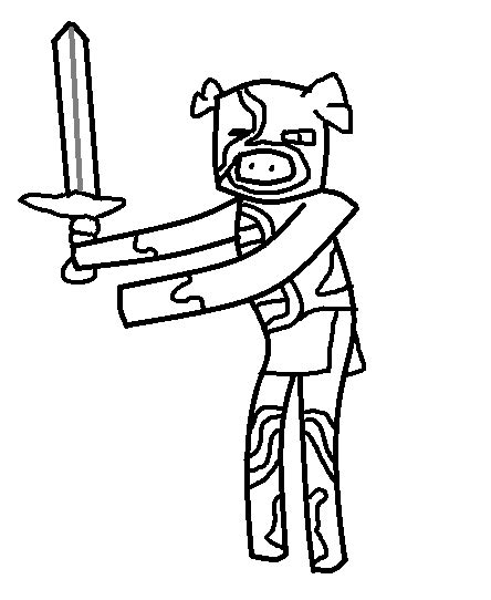minecraft zombie pigman free coloring pages