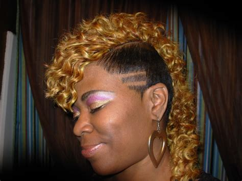 mohawk hairstyles for black women with weave