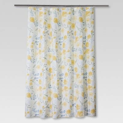 floral shower curtain target floral shower curtain yellow blue threshold target
