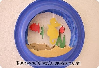 Paper Fish Bowl Craft - paper plate fish bowl day care ideas