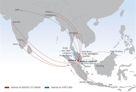 batik air route map malindo air to compete on the busy kuala lumpur singapore