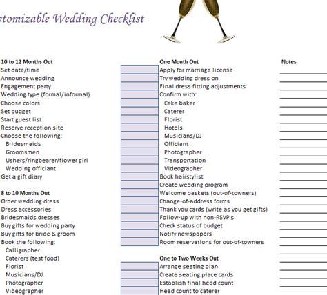 customizable wedding checklist template haven
