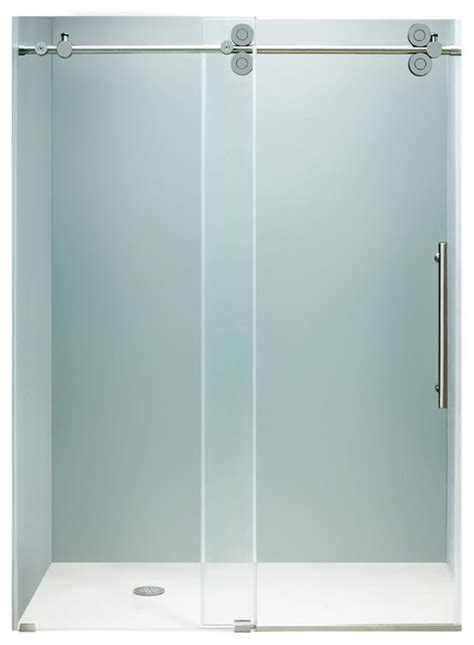 Frameless Shower Door Hardware Supplies Vigo 48 Inch Frameless Shower Door 3 8 Quot Clear Chrome Hardware Modern Shower Doors By Vigo